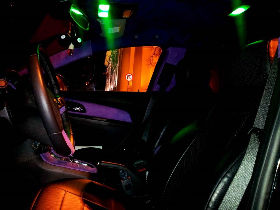 Подсветка в салон шевроле круз своими руками